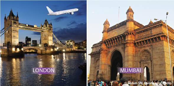 Flights London to Mumbai